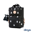 deya 熊後背包(小)-黑色 台灣頂級帆布刺繡 MIT台灣製造 加贈deya熊玩偶