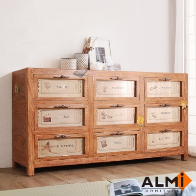 ALMI-GRAINETIER 9 DRAWERS 九抽收納櫃W159*D45*H81CM