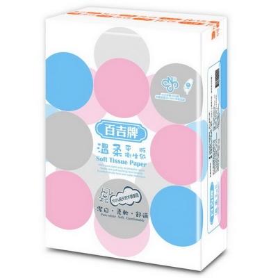 百吉牌平版溫柔衛生紙(300張x6包)