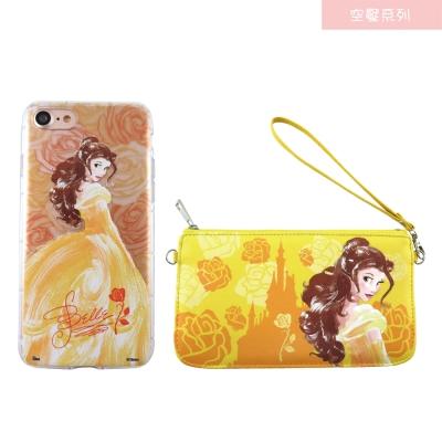 Disney迪士尼iPhone 7(4.7)防摔氣墊空壓保護套+手機袋禮盒-手繪...