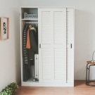 Home Feeling 衣櫃/衣櫥/百葉窗(2色)-120x58.5x182cm