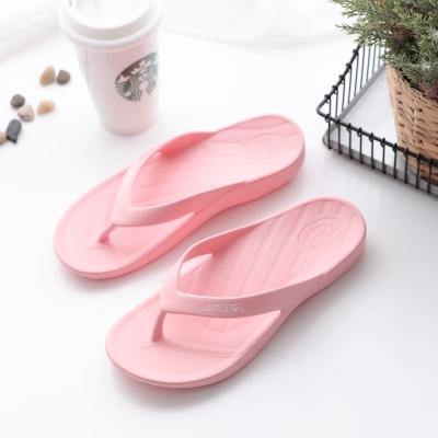 ATTA運動風簡約夾腳拖鞋-粉色