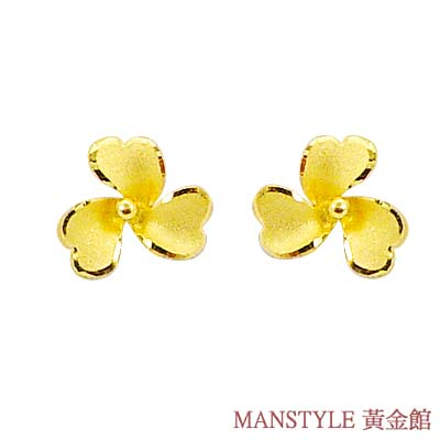 MANSTYLE「真幸福」黃金耳環