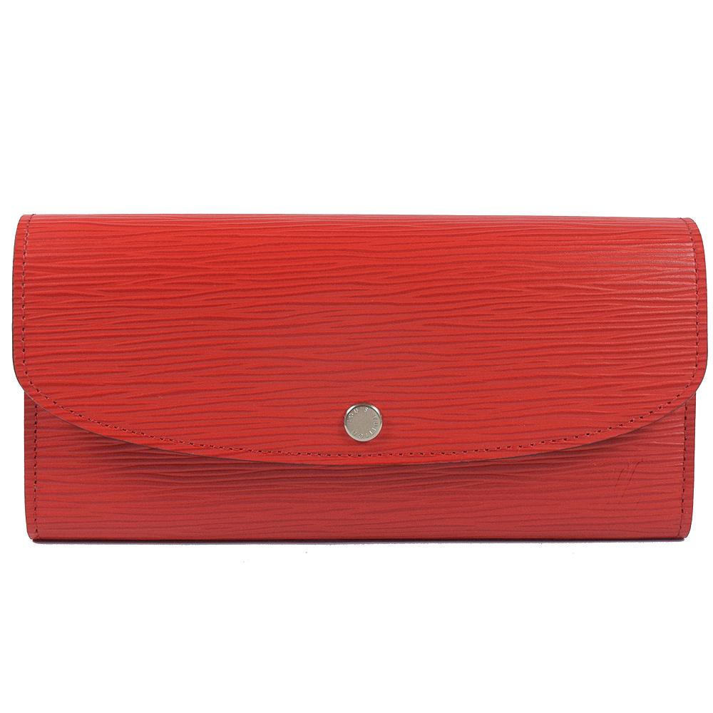 LV M60852 Emilie EPI雙色簡易式長夾(紅)LV路易威登