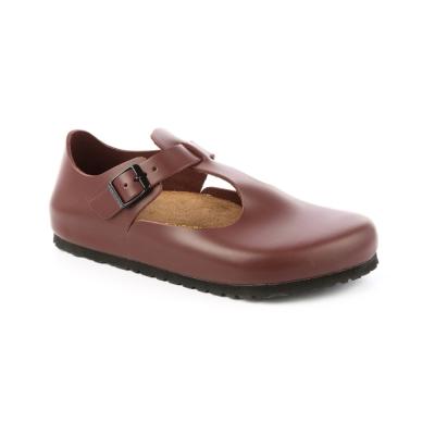 勃肯BIRKENSTOCK 065141。巴黎 經典包鞋(棗紅)