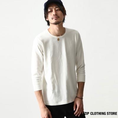 基本款8分袖T恤 ZIP日本男裝