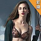 莎露 華麗系列-刺繡蕾絲-深V包覆-B-C罩杯內衣(可可咖)