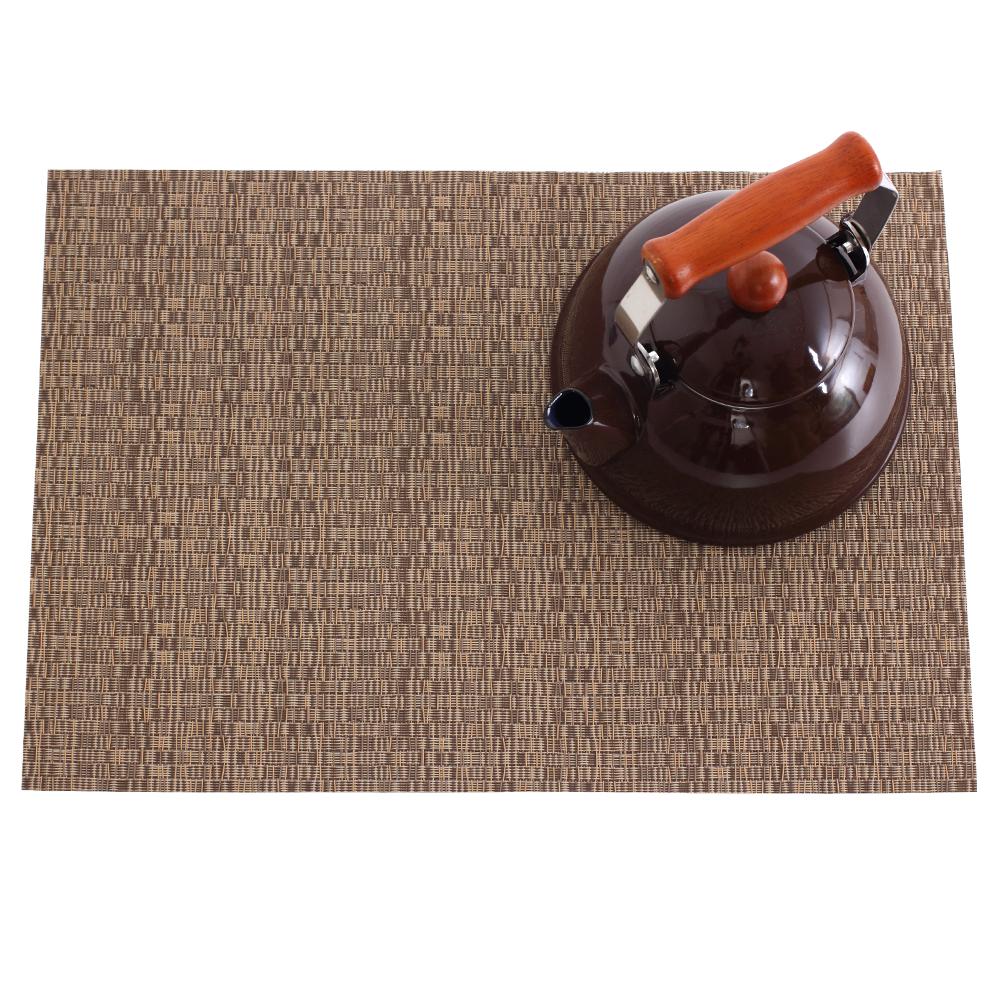 【LOVEL】歐美風手作編織感餐墊-奶茶棕(4入組)