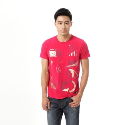 Lee 印花圓領短袖T恤-男款