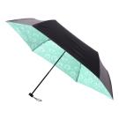 2mm 100%遮光 蒲公英黑膠輕量手開傘 (粉綠)
