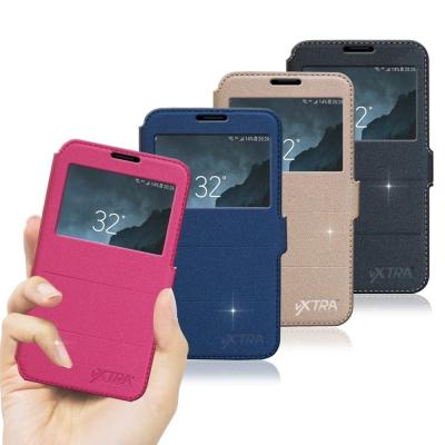VXTRA  Samsung Galaxy Note 8 經典金莎紋 商務視窗皮...