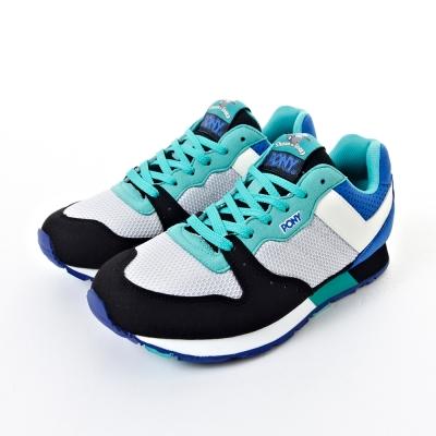 PONY-SOLA系列-笑笑羊淘氣慢跑鞋-藍-黑