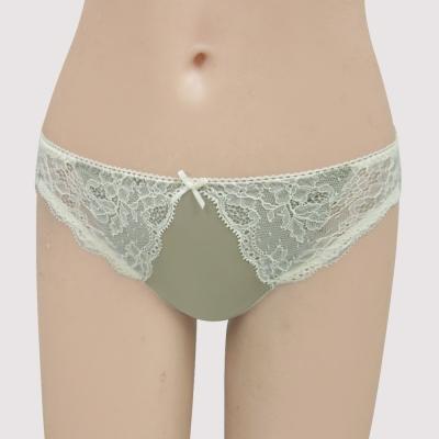 瑪登瑪朵-我挺妳  低腰三角萊克內褲(灰銅綠)