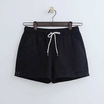 Hang Ten - 女裝 - 打摺純色休閒短褲-黑色