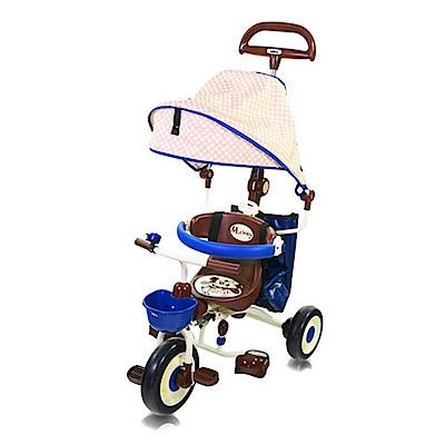 米奇摺疊敞篷三輪車(藍)/IDES/三輪車/兒童騎乘