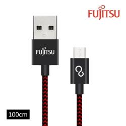 FUJITSU富士通MICRO USB金屬編織傳輸充電線-1M