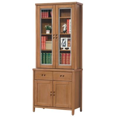 時尚屋 香杉美檜<b>3</b>尺書櫃 寬85cm