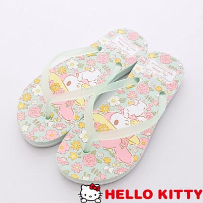 Hello Kitty-美樂蒂40週年紀念夾腳款-NI15070綠(女段)