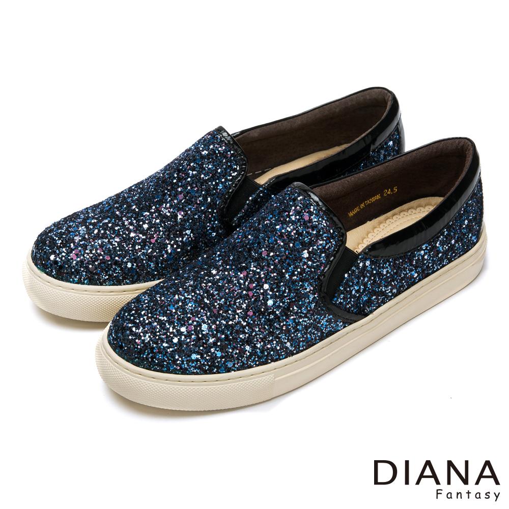 DIANA 閃爍街頭--奢華星光吸睛流行休閒鞋-繁星藍