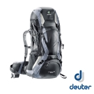 【德國 Deuter 】Futura Vario 50L+10L 網架式透氣背包_黑/灰