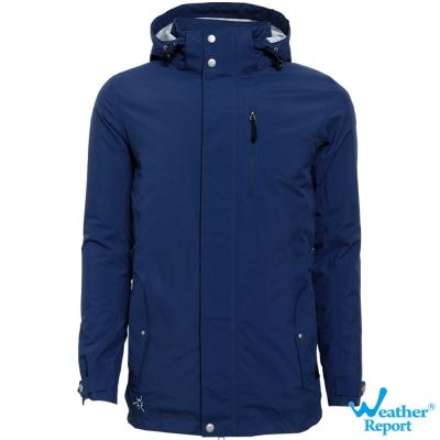 北歐Weather Report AIRTECH防水透濕保暖鋪棉外套-男款(深藍)
