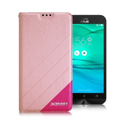 XM ASUS ZenFone Go ZB500KL 5吋 完美拼色磁扣皮套