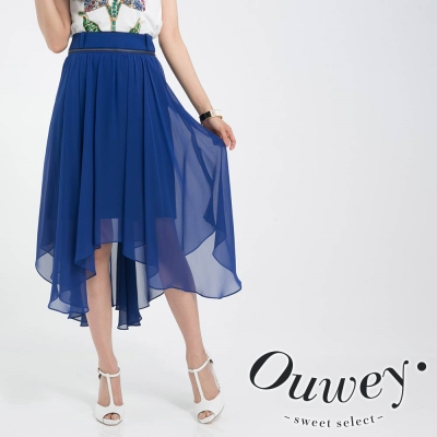 OUWEY歐薇-百變女神不規則雪紡造型裙