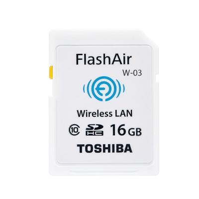 TOSHIBA 16G FlashAir SDHC C10 Wifi無線傳輸記憶卡W-03