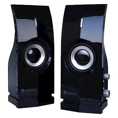 KINYO 2.0聲道兩件式多媒體音箱(PS-291)加贈百元耳機