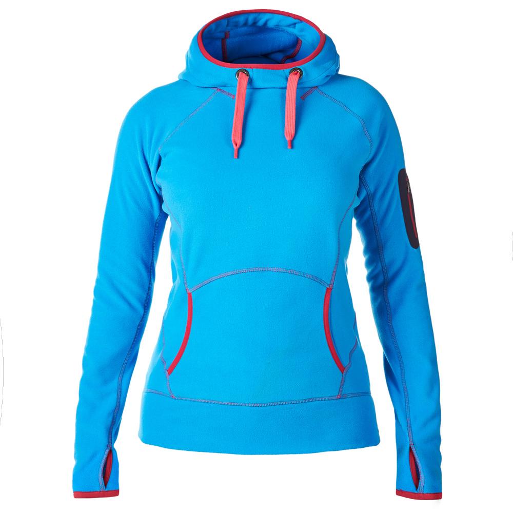 【Berghaus貝豪斯】女款FONT 連帽刷毛保暖 上衣H51FC5-藍