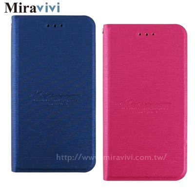 Miravivi HTC U Play經典布紋側立皮套