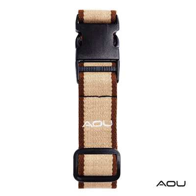 AOU 台灣製造 多用途行李外扣帶旅行省力好幫手 (咖啡) 66-028D4