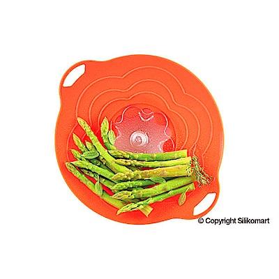 義大利製SiliKoMart專利防漏-聰明蒸煮鍋蓋(S)-橘