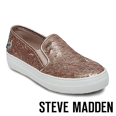 STEVE MADDEN-GILLS-S 亮片厚底懶人鞋-玫瑰金