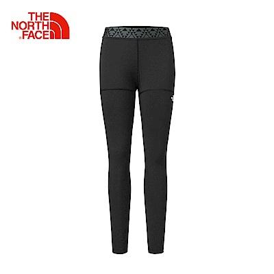 The North Face北面女款黑色吸濕透氣運動緊身褲