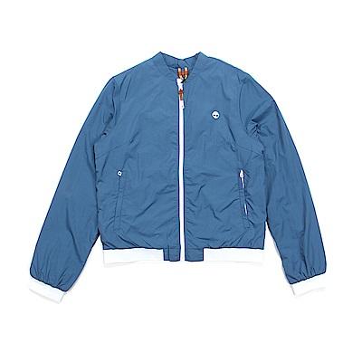 Timberland 女款海軍藍印花款超輕可收納飛行外套