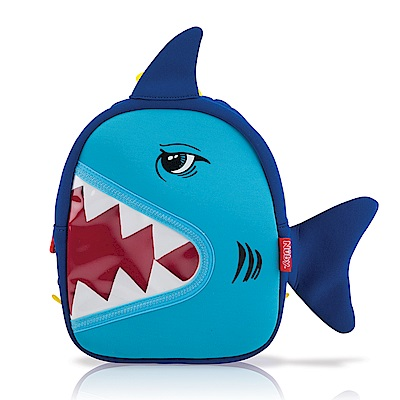 Nuby 3D立體防水背包-鯊魚(18M+)