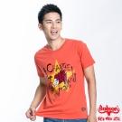 BOBSON 男款五芒星合身版短袖上衣(橘紅23033-26)