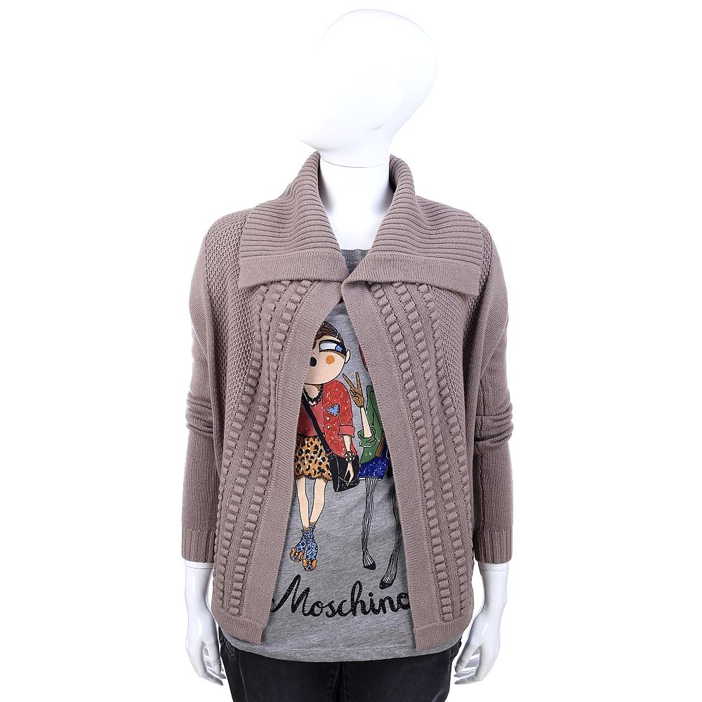 MARELLA 可可色織紋設計罩衫