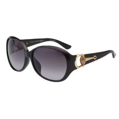 GUCCI- 時尚金球款 太陽眼鏡 (黑色)