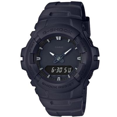 G-SHOCK潮流專屬黑色控日線全黑系列休閒運動錶(G-100BB-1A)/52mm