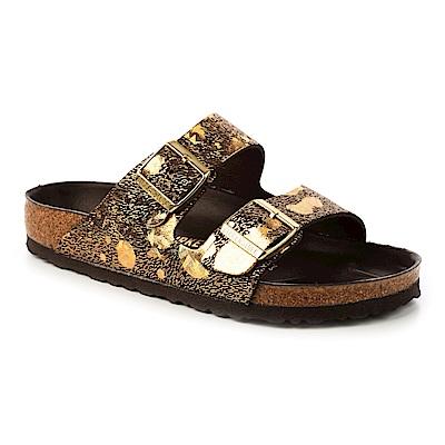 勃肯BIRKENSTOCK 1006040亞利桑那 經典二條拖鞋(閃亮金)