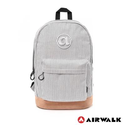 AIRWALK-彩裝俏妞系列條紋筆電後背包-黑條紋