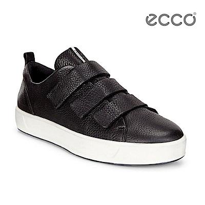 ECCO SOFT 8 LADIES 簡約魔鬼氈休閒鞋-黑 @ Y!購物