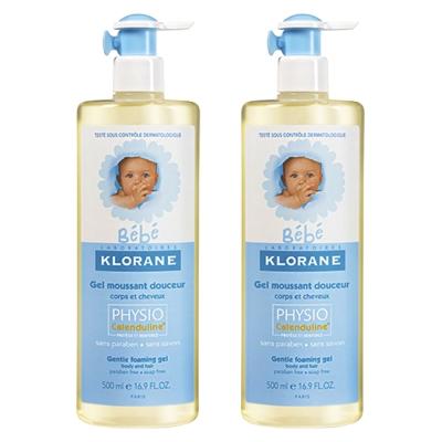 Klorane蔻蘿蘭 寶寶洗髮沐浴精  500 ml 壓頭雙瓶組