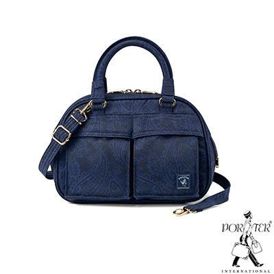 PORTER - 俐落雅致INDIGO小型手提側背兩用包 - 藍