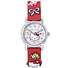 Hello Kitty凱蒂貓甜美可愛立體造型手錶-粉X紅/27mm