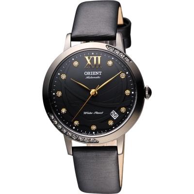 ORIENT 東方 時尚風采晶鑽機械腕錶-黑/36mm