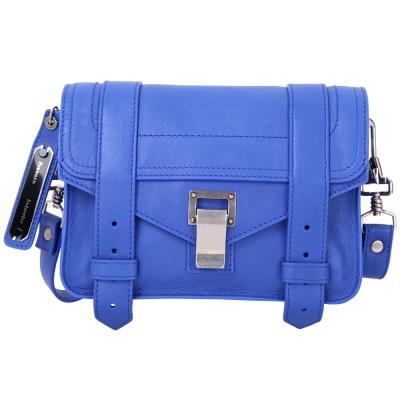 (無卡分期12期) PROENZA SCHOULER Mini Pouch山羊皮革斜背包(藍色)