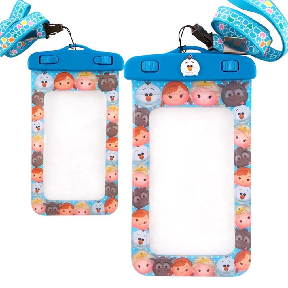 Disney迪士尼TSUM TSUM 5吋通用可愛繽紛手機防水袋-冰雪奇緣